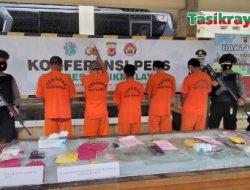 Lima Pengedar Narkoba di Kabupaten Tasikmalaya Berhasil Diungkap, Ada Penjual Es Kelapa Muda Mangkubumi