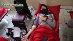 Ratusan Anggota Polres Tasikmalaya Donor Darah Peringati HUT Lalu Lintas ke-66